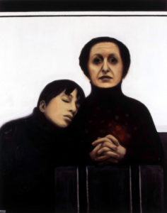 Emasüda. 2007. Õli lõuendil. Erakogus. / Mother's heart. Oil on canvas, 150 x 120 cm. In privat collection