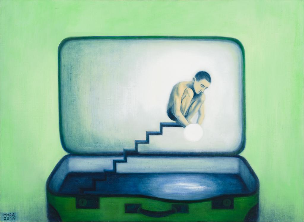 Lootus. 2019. Õli lõuendil. / Hope. Oil on canvas.100 x 73 cm