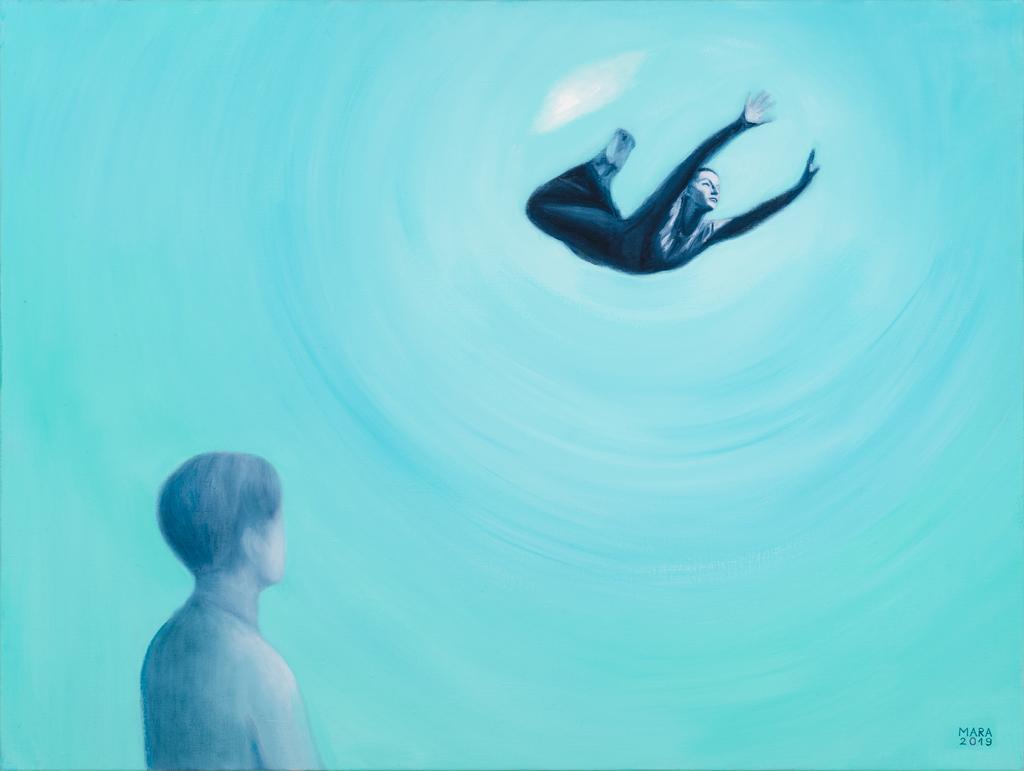 Usaldus. 2019. Õli lõuendil. / Trust. Oil on canvas. 120 x 90 cm