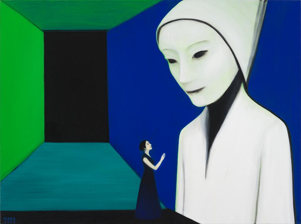 Elus. 2019. Õli lõuendil. / Alive. Oil on canvas.120 x 90 cm