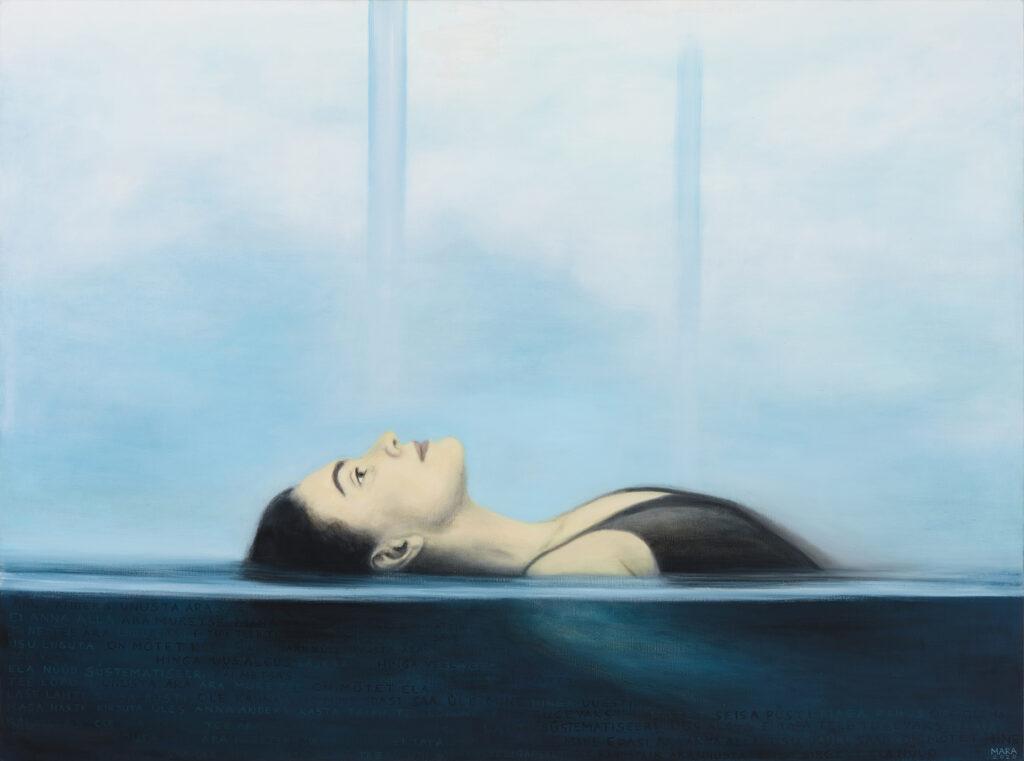 Kõrgemale ja sügavamale, õli lõuendil, 2020 a., 170 x 127 cm.