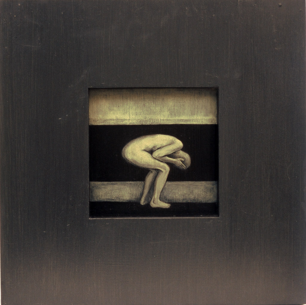 Tervenemine  III, 2002. Akrüül alusel. 40 x 40 cm.