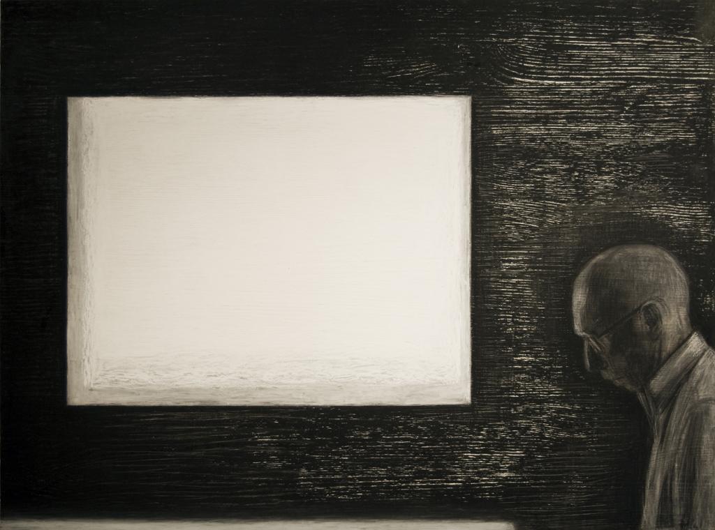 1.Sõnatu, 2011,õlipastell puidul, 80 x 60 cm