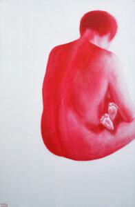 2.Rahu,2008, akrüül lõuendil, 140 x 80 cm