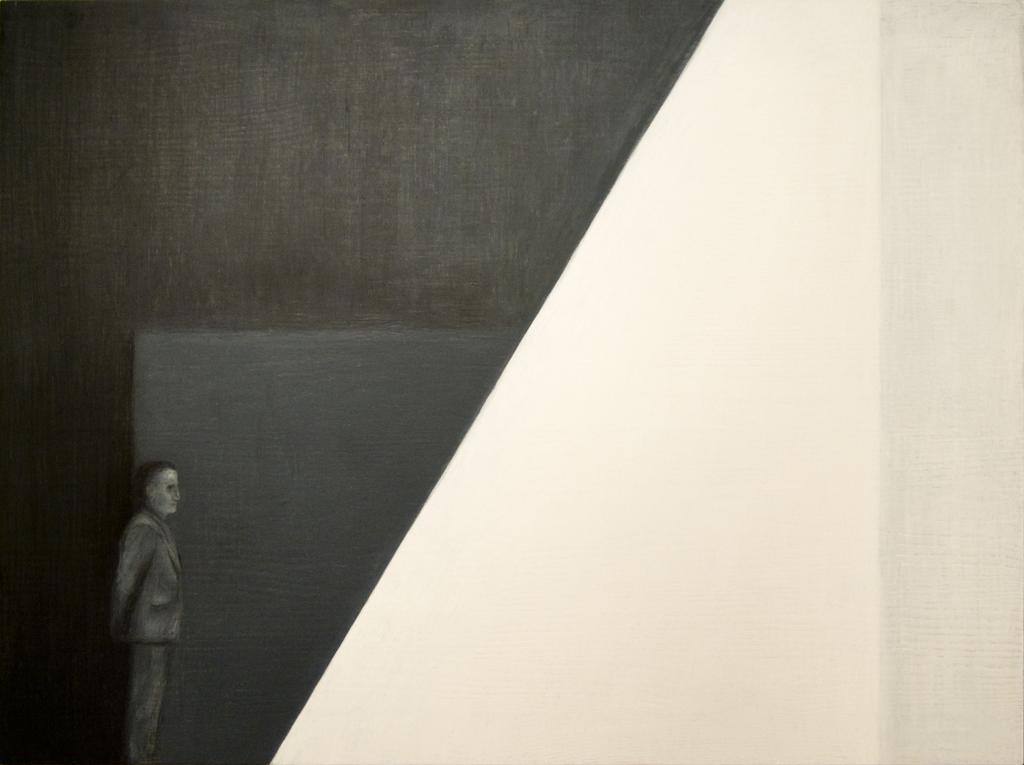 3.Ootus,2011, õlipastell puidul, 80 x 60 cm