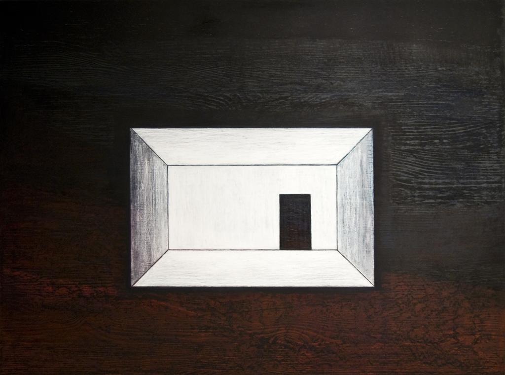 4. Edasi ei saa, 2011,õlipastell puidul, 80 x 60 cm