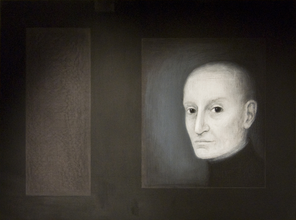 Olemas,2011, õlipastell puidul, 80 x 60 cm
