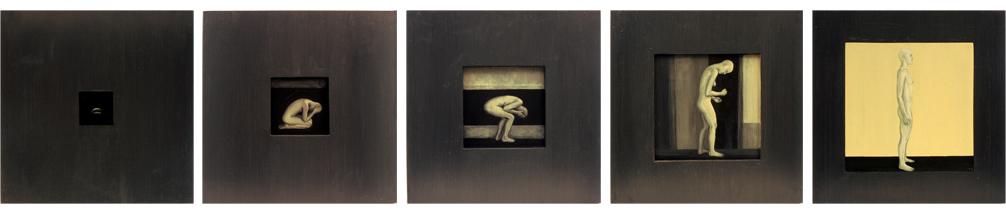 8. Tervenemine I – V, 2002,akrüül alusel, 40 x 40 cm