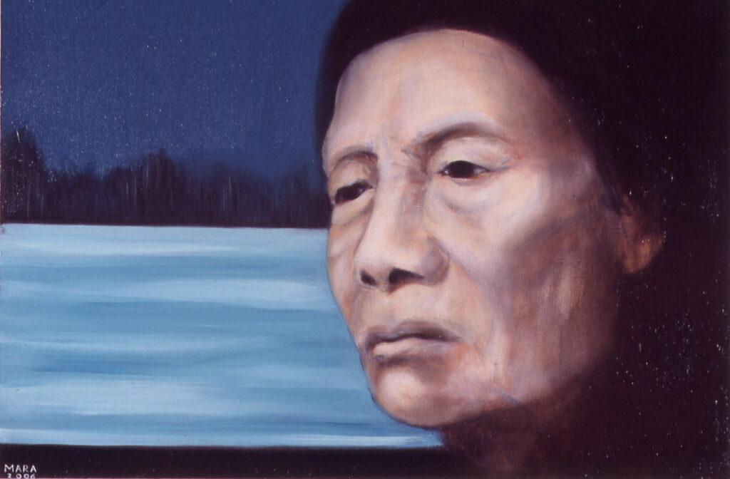 Kriipiv üksindus, 2006, õli lõuendil, 87 x 60 cm, erakogus